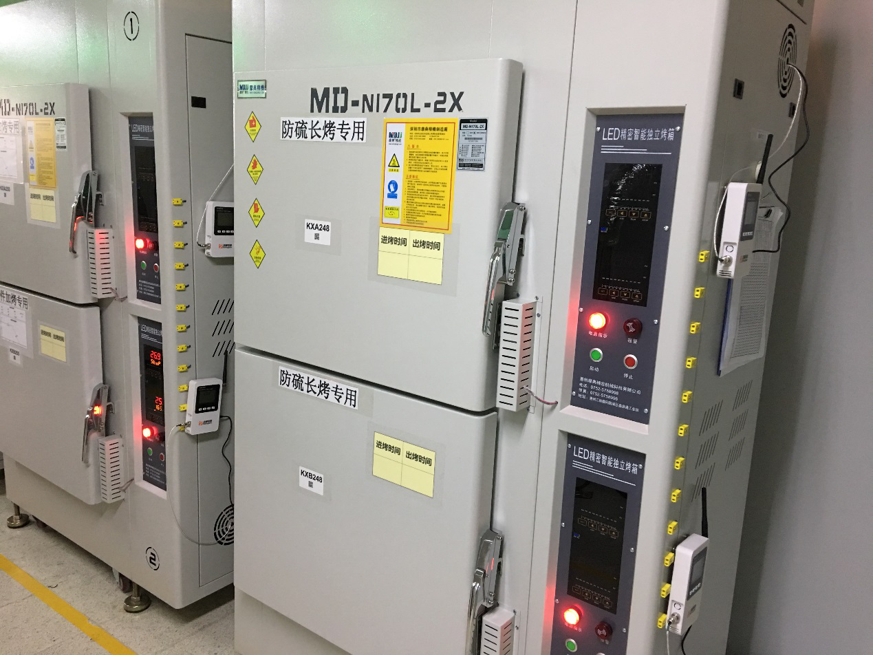 聚飞光电工厂烤箱温度实时监控系统